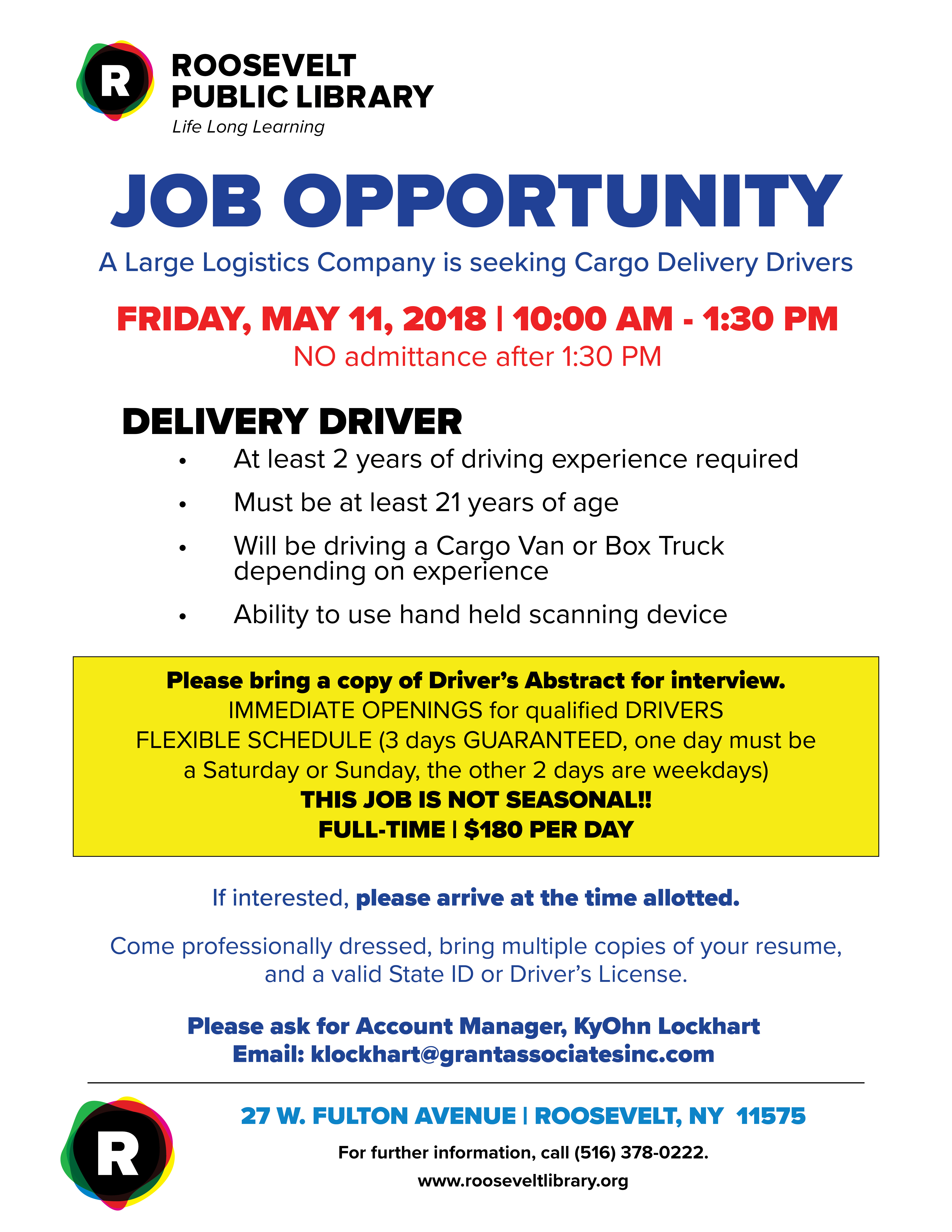 Cargo Delivery Driver Position